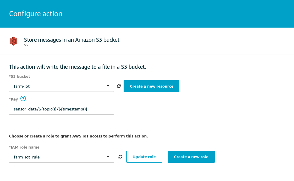 Store messages in an Amazon S3 bucket